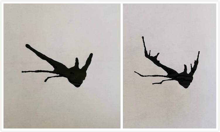 光是树枝看起来有点萧瑟,小龙快速取出水彩工具,在树枝上点上几笔