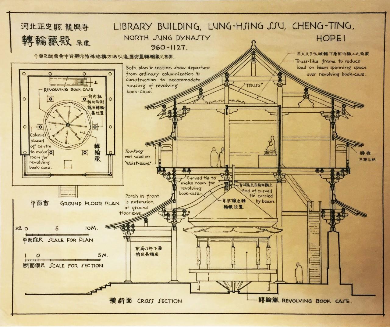 梁思成手绘古建筑图鉴赏