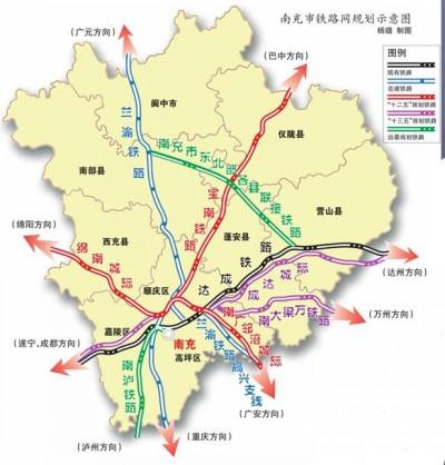 南充高铁规划线路图图片