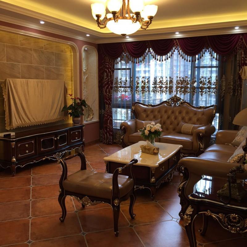 邂逅西班牙-地中海风格客厅1图片,成都装修公司,成都人和雅风装饰公司