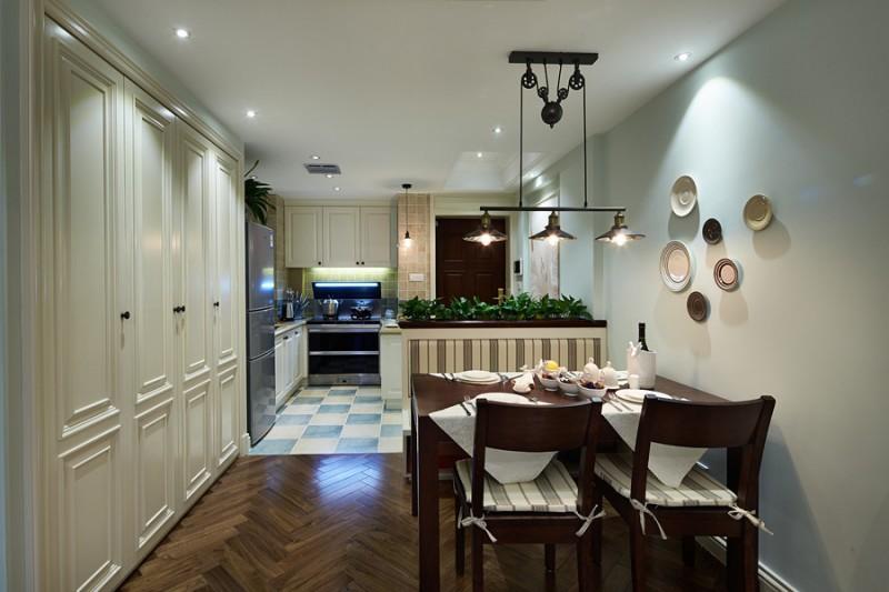 金色黎明-美式风格餐厅效果图是成都装修公司成都人和雅风装饰公司提供