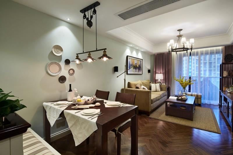 金色黎明-美式风格餐厅2效果图是成都装修公司成都人和雅风装饰公司提供