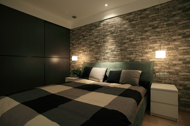黑白灰是现代简约风格的装修卧室图片,成都装修公司,成都人和雅风装饰