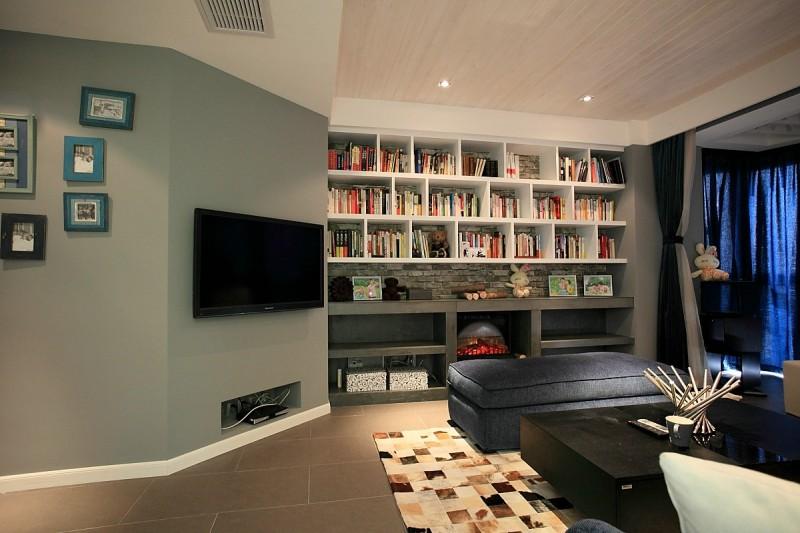 黑白灰是现代简约风格的装修客厅图片,成都装修公司,成都人和雅风装饰