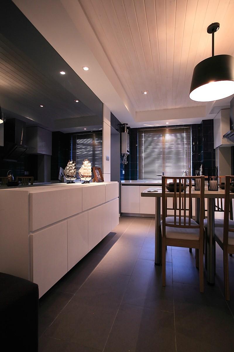 黑白灰是现代简约风格的装修餐厅图片,成都装修公司,成都人和雅风装饰