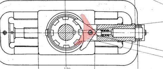 单动式棘轮结构
