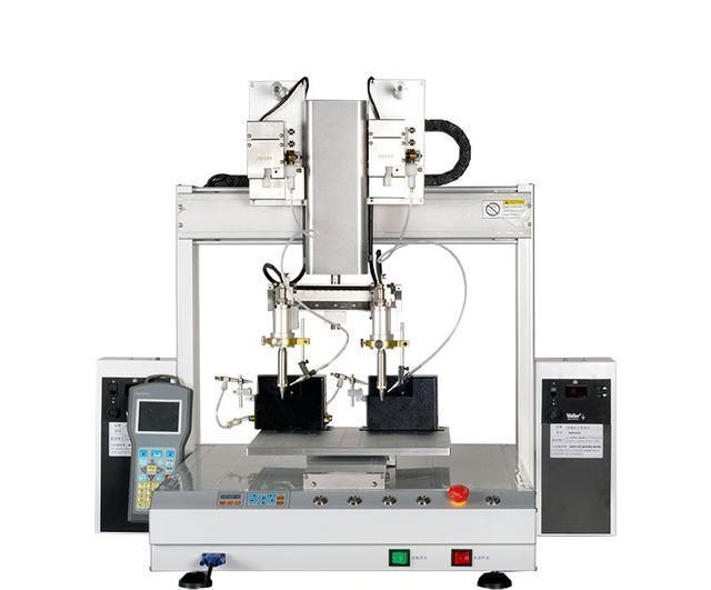 双头单平台自动焊锡机