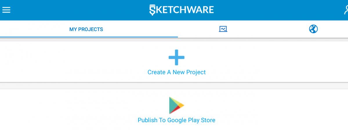 SketchWare 在智能手机上创建安卓应用