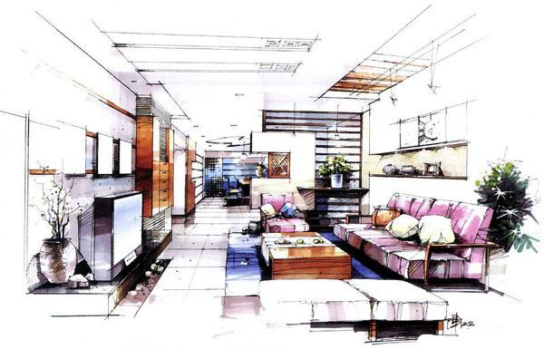 手绘是室内设计师的语言,室内效果图无疑是设计师的灵魂