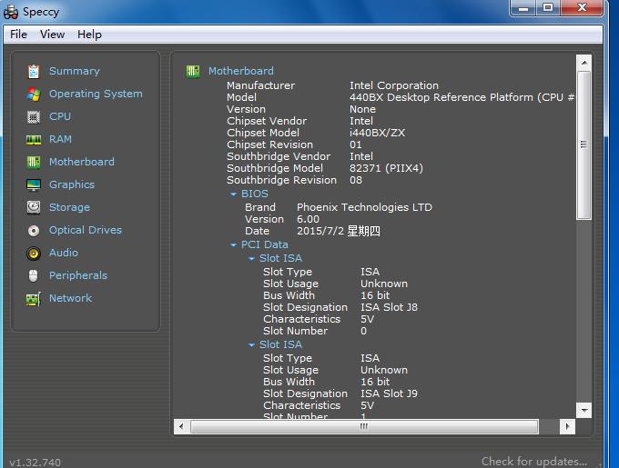 Speccy  查询电脑硬件配备、硬件规格厂牌型号