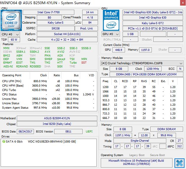 HWiNFO查询电脑硬件、电脑温度、测试性能(HWiNFO32, HWiNFO64)