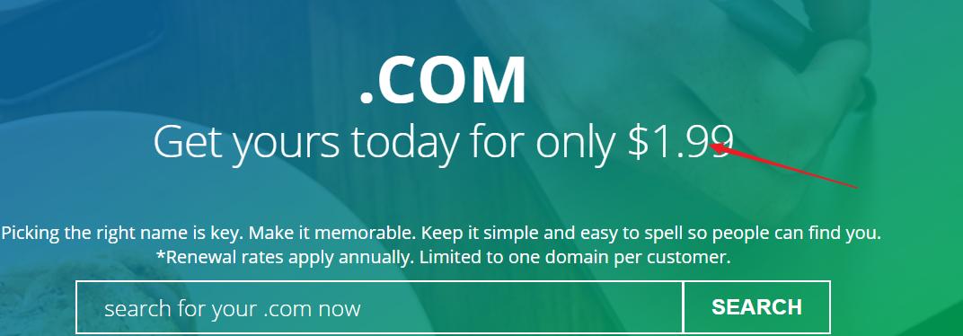 Directnic美国域名注册商,注册.COM域名仅1.99 美元首年,新老用户均可,每个用户仅限注册一个