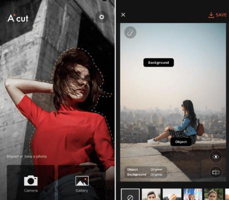「Aicut」背景与人像可套用不同滤镜的智能照片编辑器(iPhone, Android)