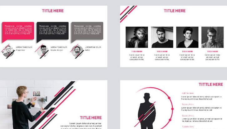 8组高质感PPT、Keynote模板布景主题,个性主义风格PPT模板