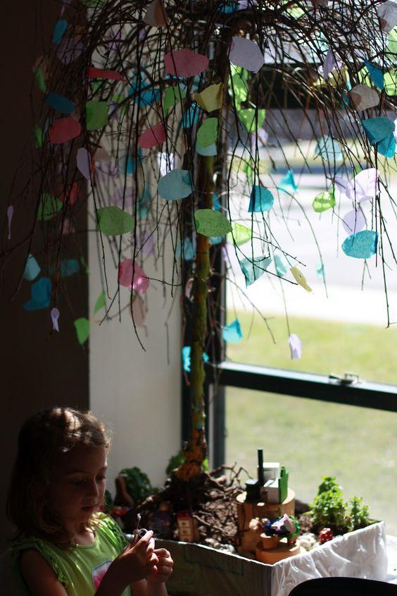 【环境布置】幼儿园建构式课程中班(下)第四主题:大树和小花