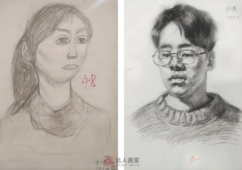 邓同学入学达人画室前后的素描作品对比.jpg