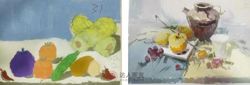 邓同学入学达人画室前后的色彩作品对比.jpg