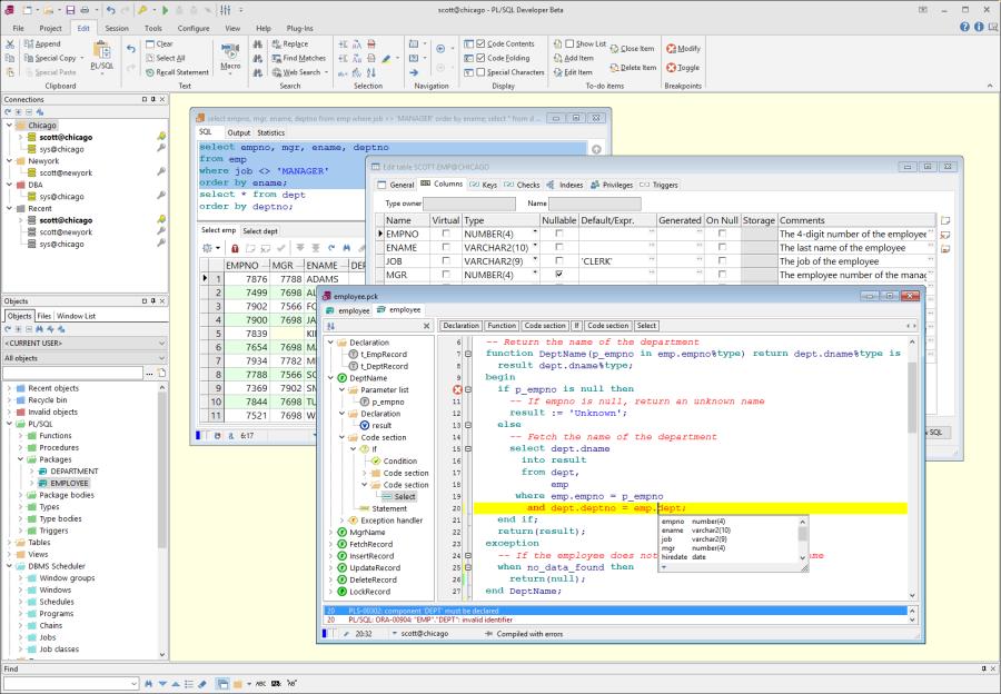 PL / SQL Developer _files comparison_Files Comparison