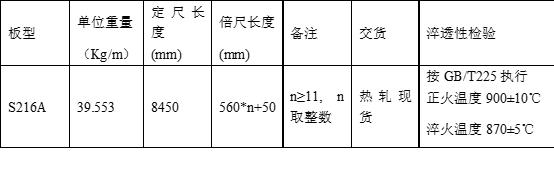 216型钢现货七夕大卖!