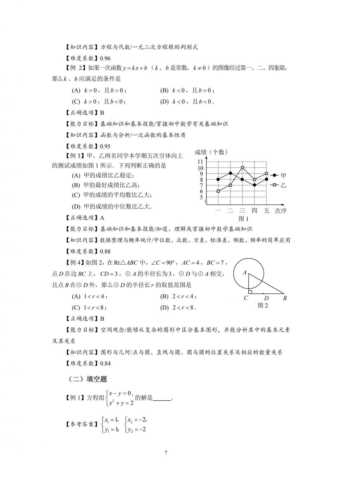 2020年上海市初中数学课程终结性评价指南
