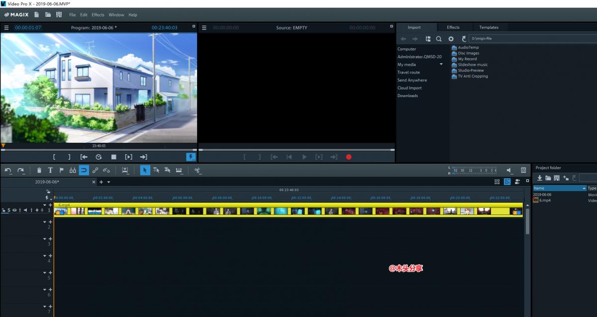 非线性视频剪辑软件 MAGIX Video Pro X11 v17.0.1.27 特别版