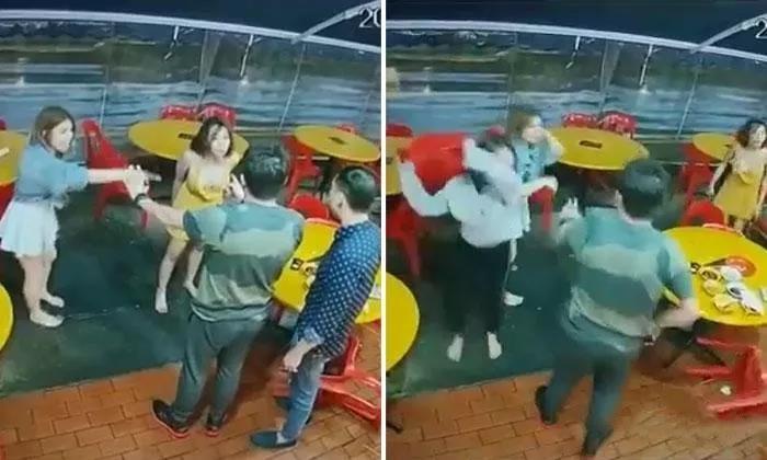 不满韩国女郎抢其顾客 越南女郎街头聚众暴打韩国女郎-热点新加坡