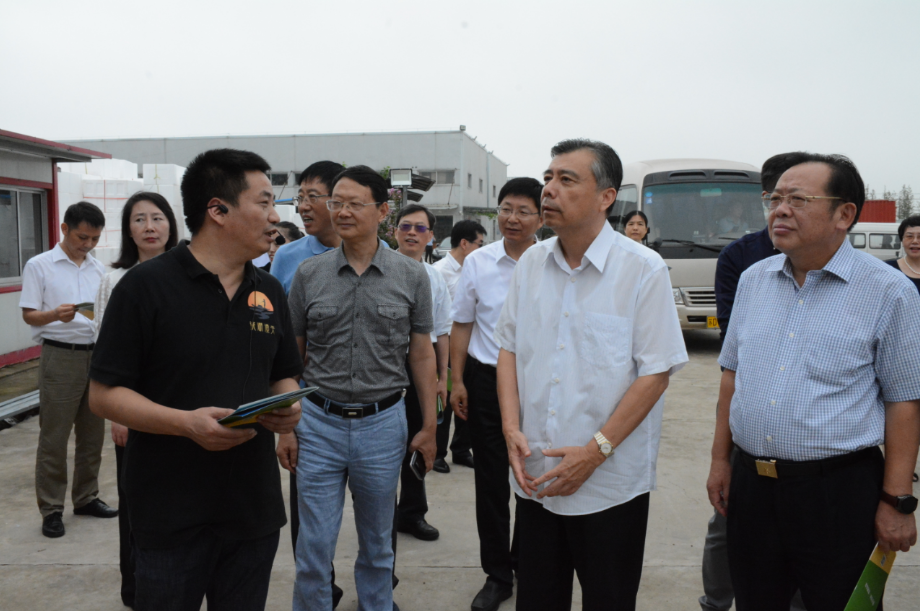 江苏省政协领导来金坛区考察智能农业建设情况