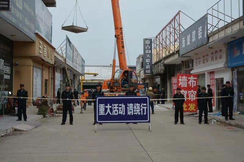 金城建材市场进入强拆施工阶段