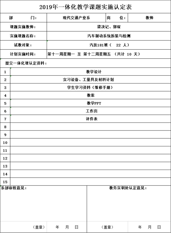 图12(汽车制动系统检测一体化教学课题实施认定表).JPG