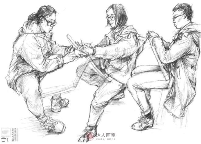 中国美术学院速写高分卷