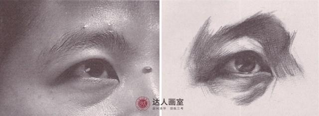 眼部仰视画法