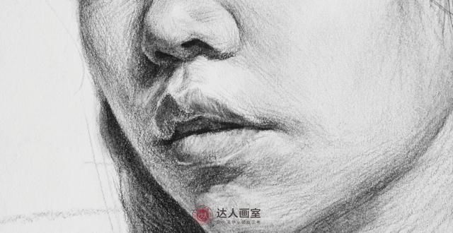 素描头像的嘴巴怎么画