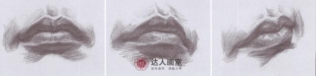 唇部平视仰视俯视视角刻画