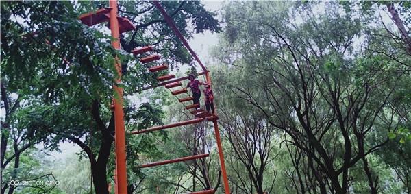 西安团建活动--高空缅甸桥