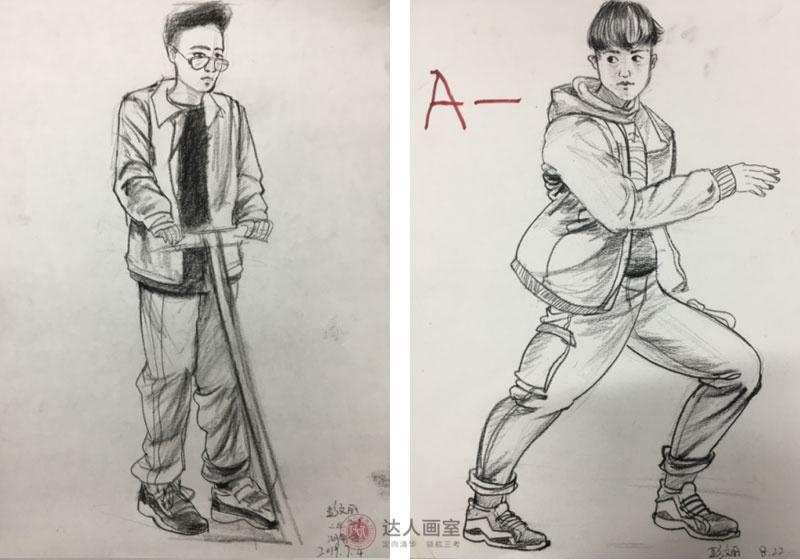 彭同学进入达人画室美术培训前的作品