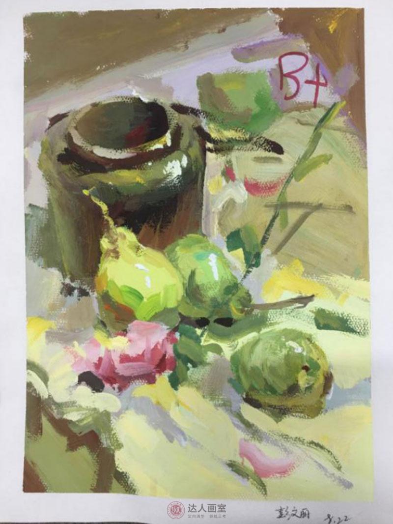 彭同学进入达人画室美术培训后的色彩作品