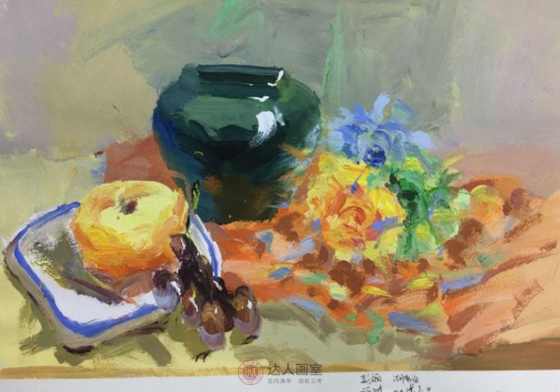 彭同学进入达人画室美术培训前的色彩作品