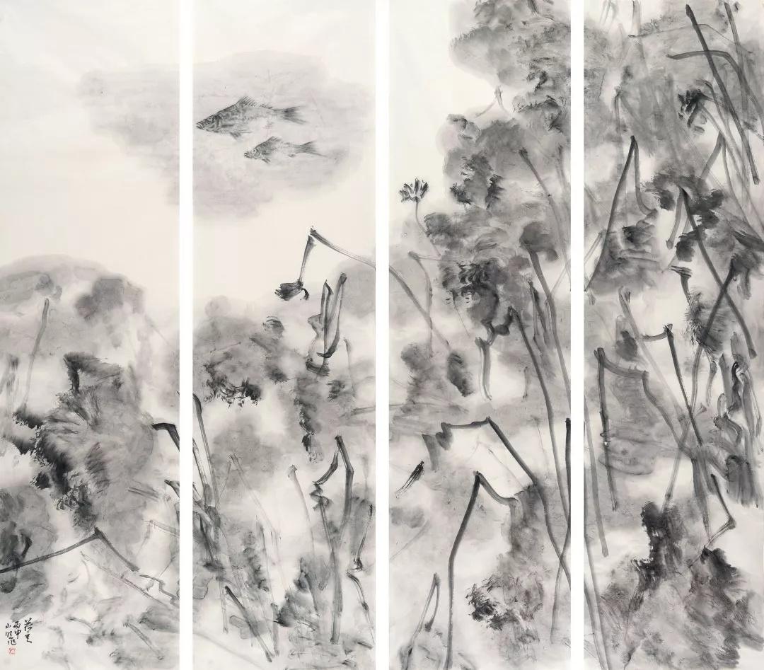 荷意(入选第六届全国画院美术作品展),180_185cm,2016.jpeg