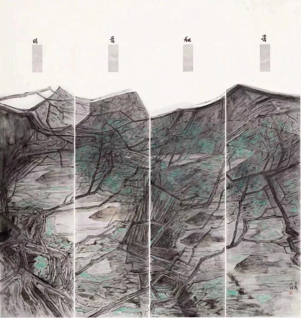春和景明(入选全国十三届美展),185_185cm,2019.jpeg