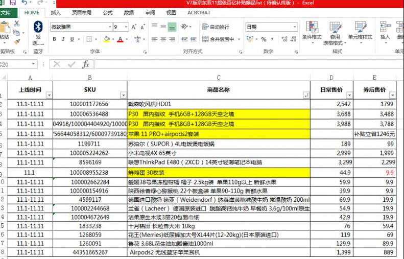 京东双11大促价疑遭提前泄露 京东称已开展调查